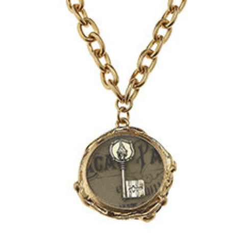 Round Shadow Box Necklace