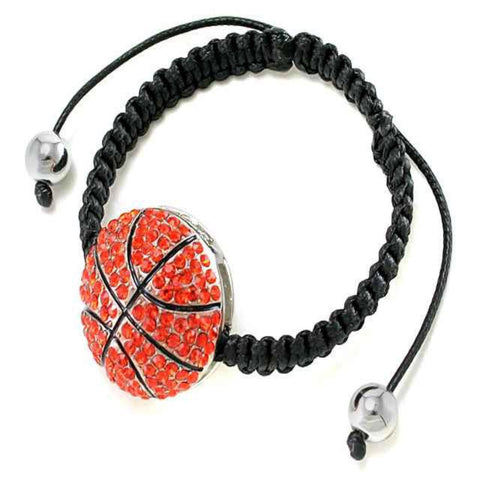 Crystal Basketball Friendship Bracelet