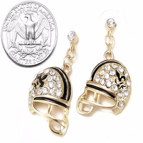 Football Helmet Earrings - New Orleans Saints