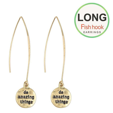 Do Amazing Things on Long Wire Earrings