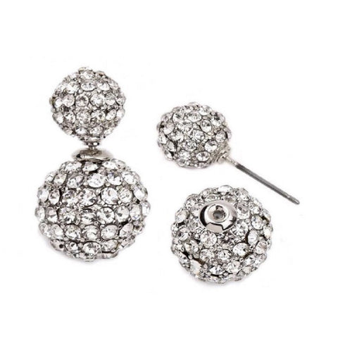 Double Sided Pave Crystal Earrings