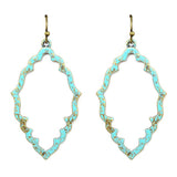 Moroccan Shape Patina Earrings