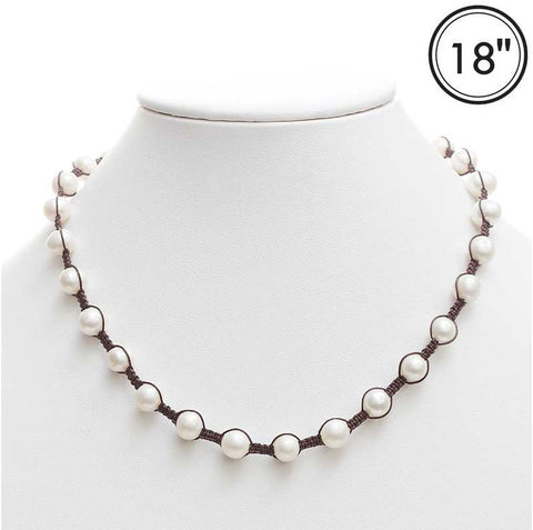 Freshwater Pearl Corded Necklace