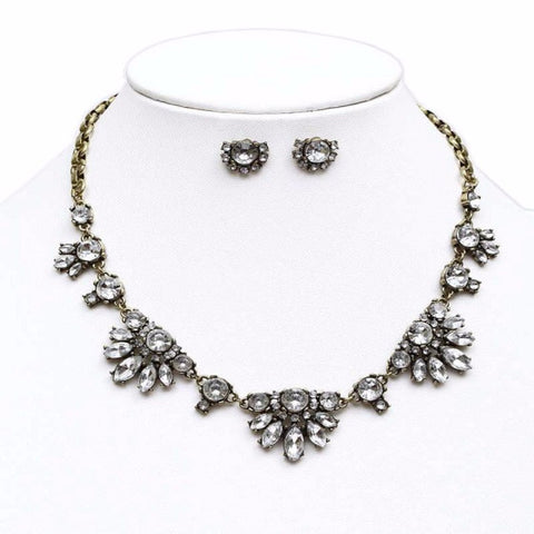Vintage Ornate Crystal Necklace