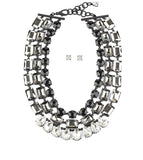 Triple Layer Crystal Statement Necklace