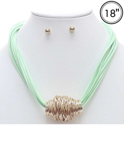 Mutli Strand Suede Necklace