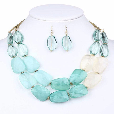 Small Double Acrylic Variegated Necklace