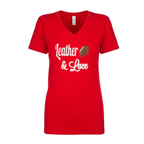 Leather & Lace Football Glitter Shirt