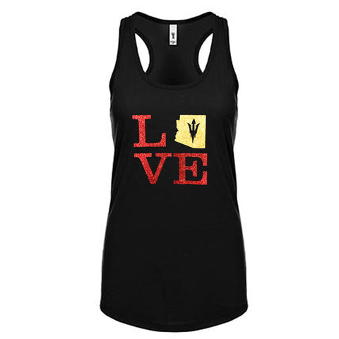 Love with Arizona Sun Devils Glitter Tank