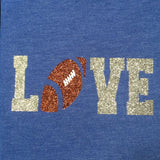 "Football ""Love"" Glitter Shirt"