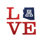Love with Arizona Wildcats Glitter Shirt