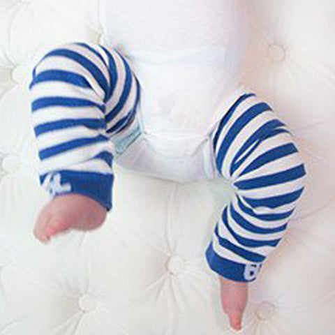 Baby Leggings - Blue Stripes