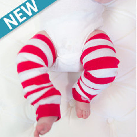 Baby Leggings - Red Stripe (Candy Cane)