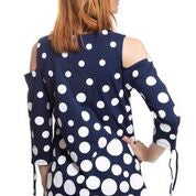Cold Shoulder Top with Dots