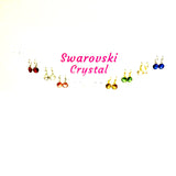 Swarovski Crystal on Hoop Earrings
