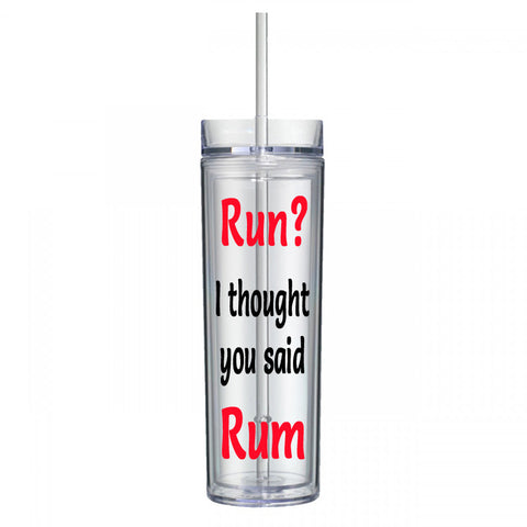 Run? I Thought You Said Rum Water Bottle