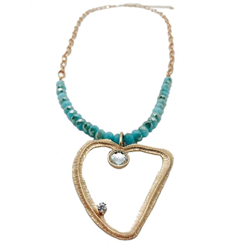 Long Abstract Heart Necklace