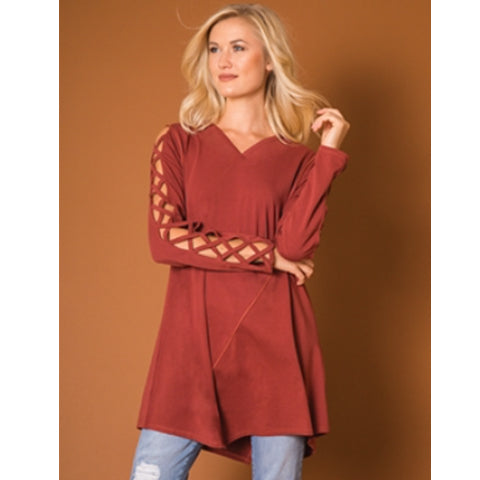 Cut Out Sleeve Tunic