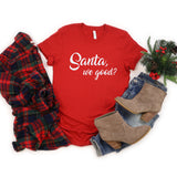 Santa, We Good? Glitter Short Sleeve Shirt