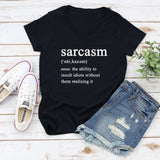 Sarcasm Definition Short Sleeve V-Neck Shirt