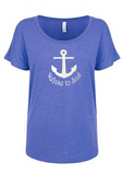 Refuse To Sink Dolman Glitter Shirt