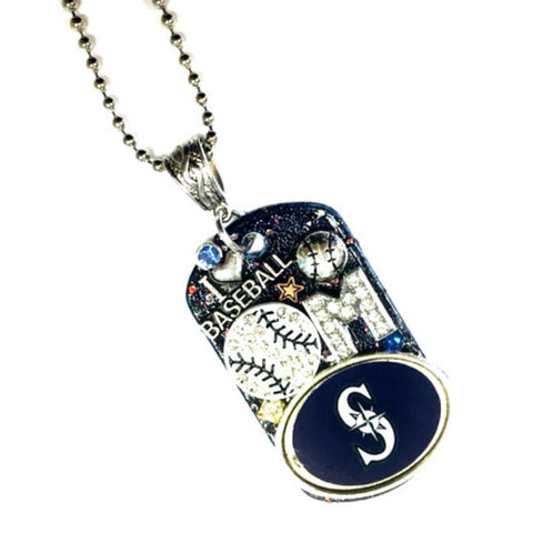 Seattle Mariners Dog Tag Necklace