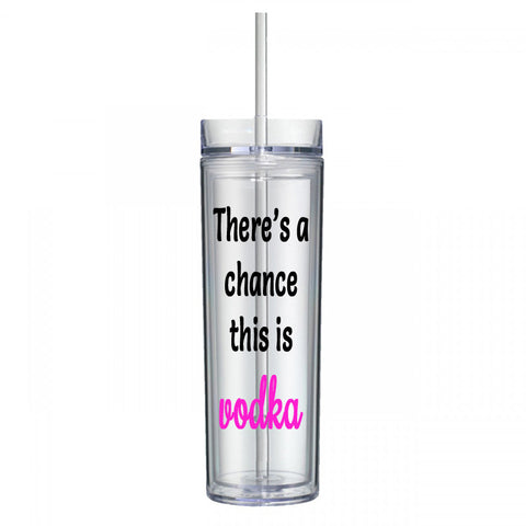 There's a Chance This Is Vodka Water Bottle