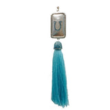 Horseshoe Dog Tag with Tassel Necklace