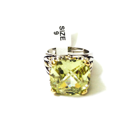 Square CZ Sized Ring