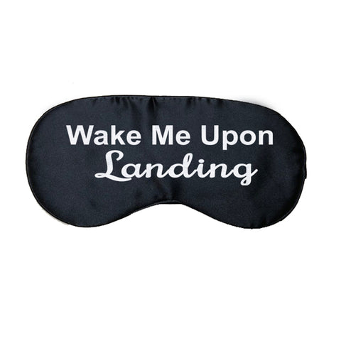 Wake Me Upon Landing Satin Eye Mask