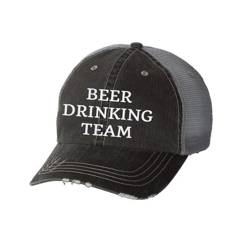 Beer Drinking Team Distressed Ladies Trucker Hat