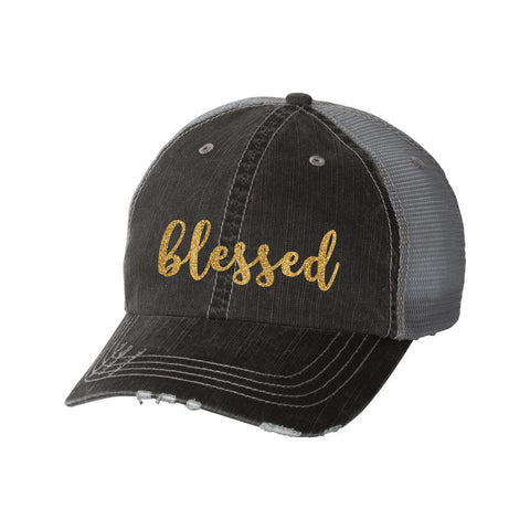Blessed Distressed Ladies Trucker Hat