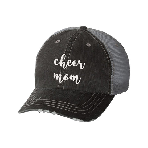 Cheer Mom Distressed Ladies Trucker Hat