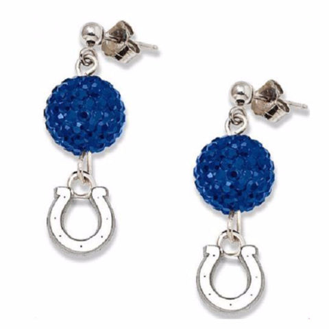 Indianapolis Colts Football Crystal Earrings