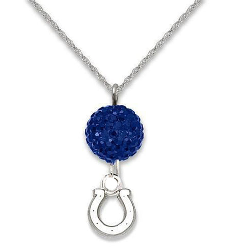Indianapolis Colts Crystal Necklace