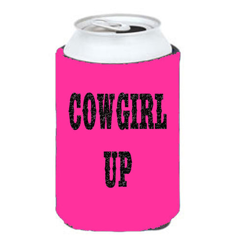 Cowgirl Up Can Cooler