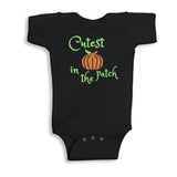 Cutest Pumpkin in the Patch Glitter Onesie