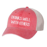 Drinks Well With Others Vintage Unisex Hat