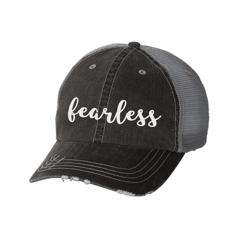 Fearless Distressed Ladies Trucker Hat