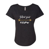 Follow Your Arrow Glitter Dolman Shirt