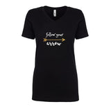 Follow Your Arrow Glitter Short Sleeve V-Neck