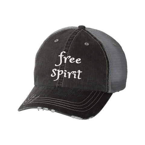 Free Spirit Distressed Ladies Trucker Hat