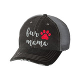 Fur Mama Distressed Ladies Trucker Hat