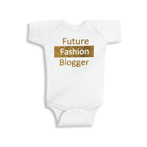 Future Fashion Blogger Onesie