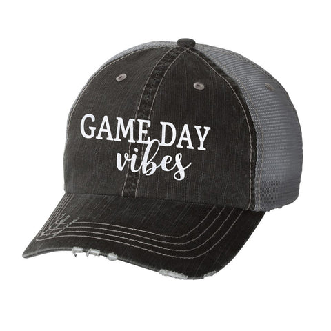 Game Day Vibes Distressed Ladies Trucker Hat