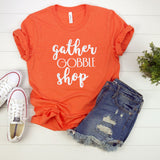 Gather Gobble Shop Glitter Shirt
