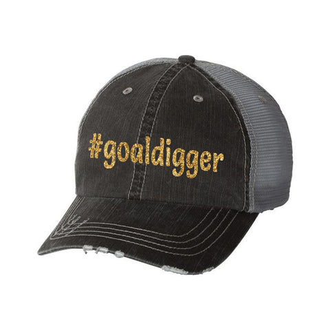 #goaldigger Distressed Ladies Trucker Hat