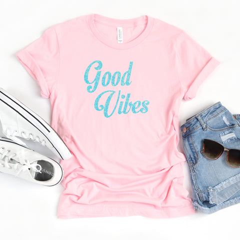 Good Vibes Glitter Shirt