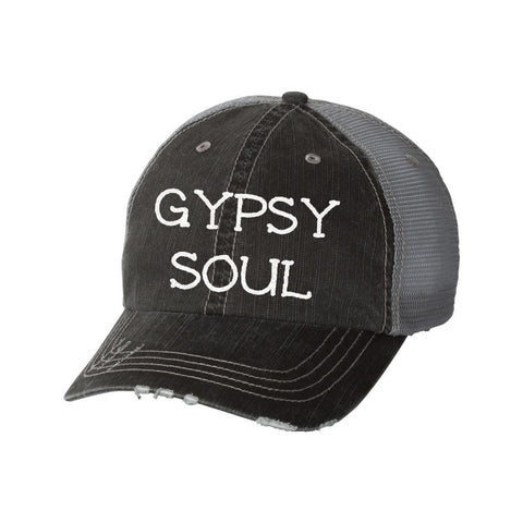 Gypsy Soul Distressed Ladies Trucker Hat