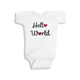 Hello World Glitter Onesie